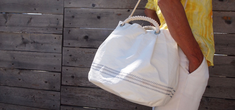 conchiglia handbag recycled sail