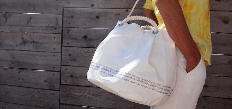 conchiglia handbag recycled sail